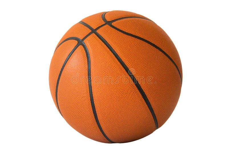 Basketball lokalisiert auf einem weißen Hintergrund stockbild