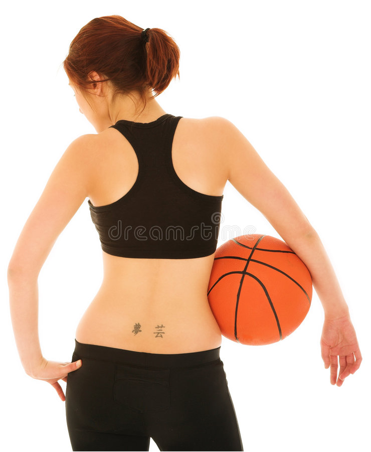 Basketball-Mädchen #5 lizenzfreie stockfotografie
