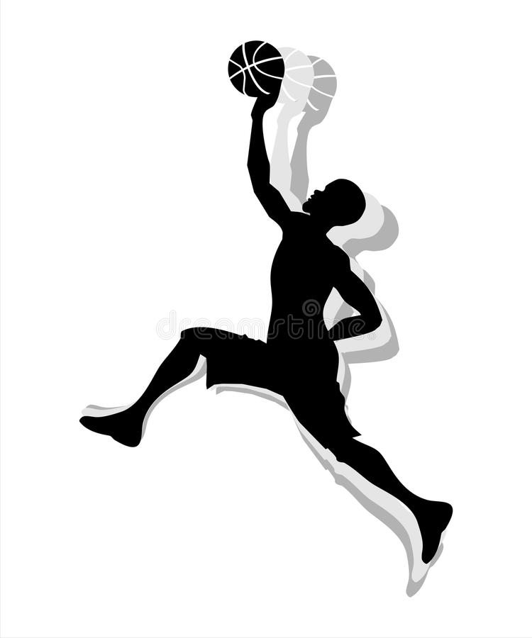 Basketball Male Silhouette royalty free stock image
