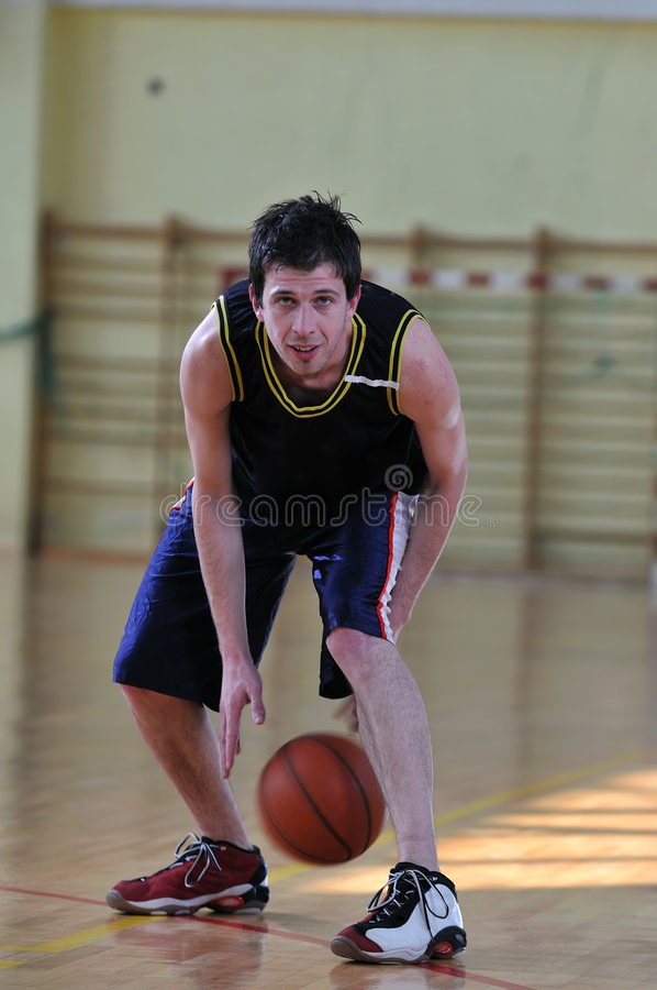 Download Basketball man stock photo. Image of indoor, active, jump - 9167560