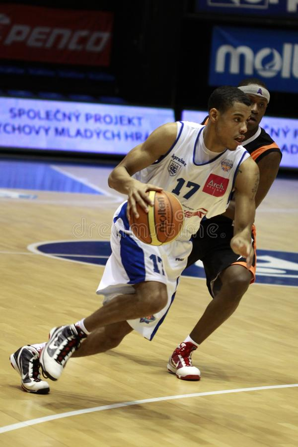 Basketball - Myles Mc Kay lizenzfreies stockfoto