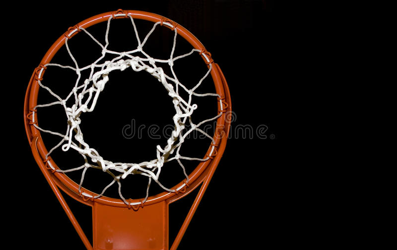 Basketball net stock image