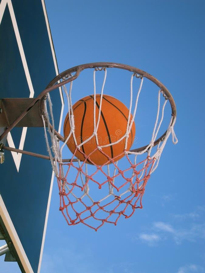 Basketball In The Net Stock Photos