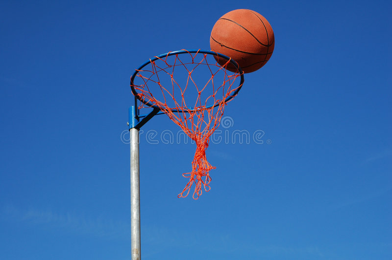 Download Basketball in the net stock photo. Image of ring, basketball - 649302