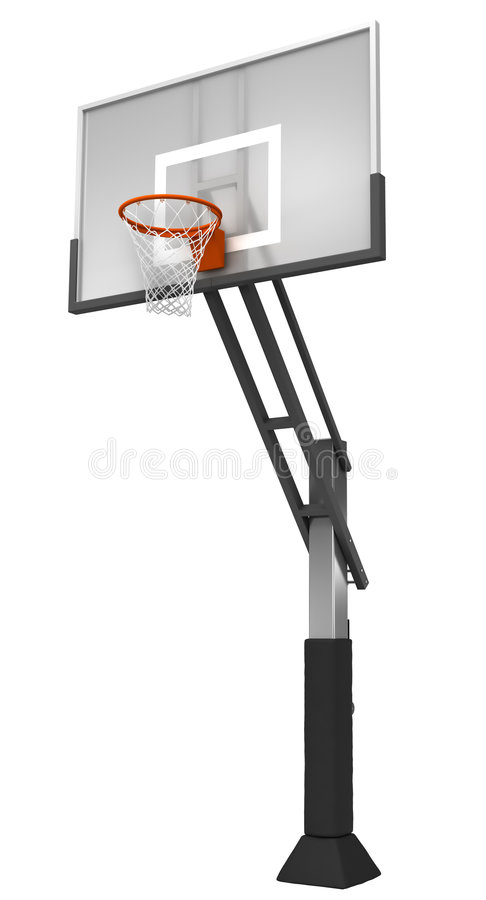 Basketball with net vector illustration