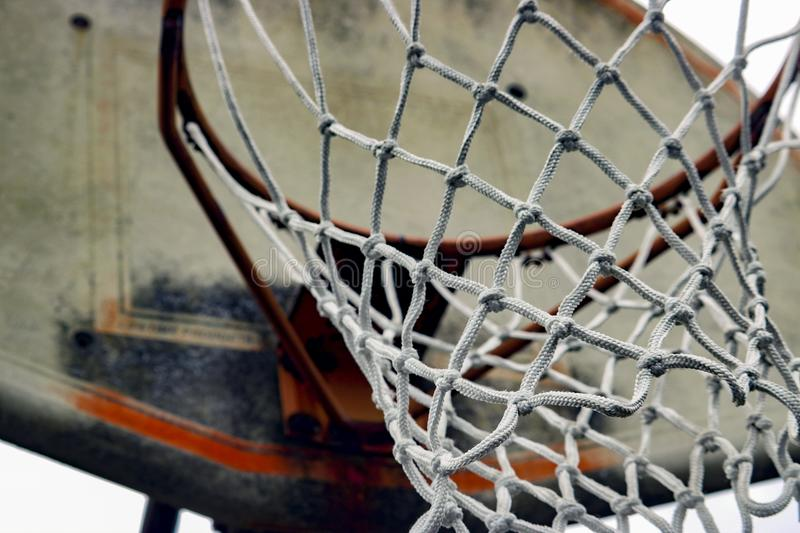 Basketball Net with Worn Backboard royalty free stock image