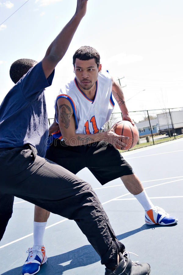 Download Basketball One On One stock photo. Image of fitness, intensity - 14396964