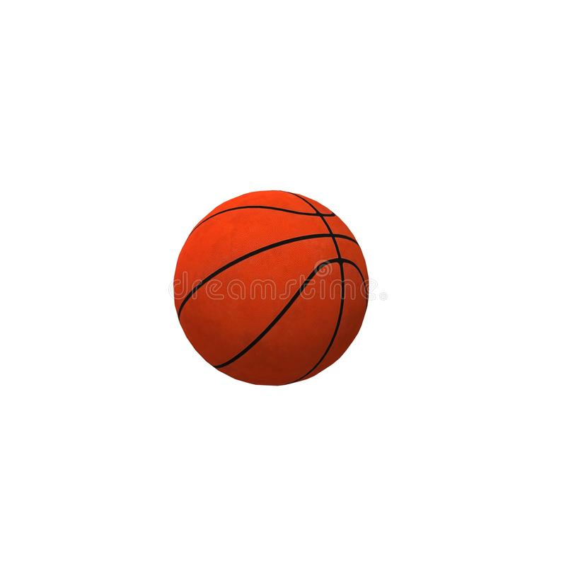 Basketball ball isolated on white background sport royalty free stock photography