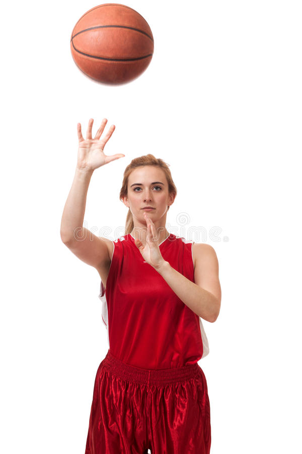 Download Basketball Player stock image. Image of female, jersey - 29055779