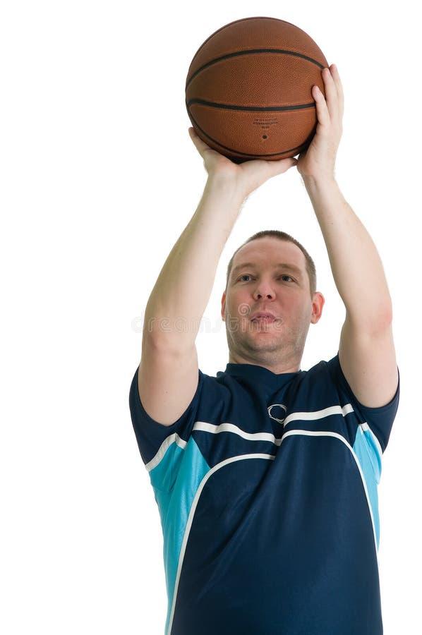 Basketball player in action stock photos
