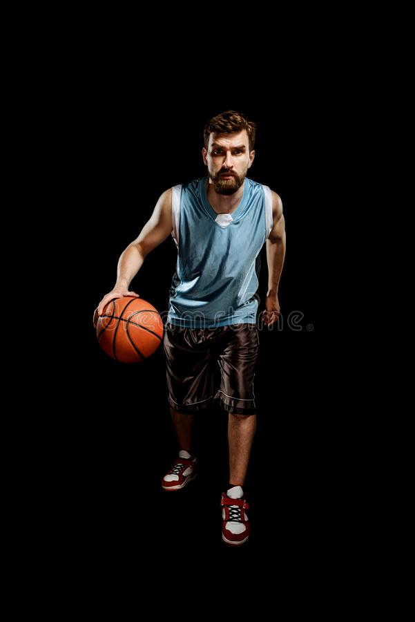 Basketball player in action royalty free stock images