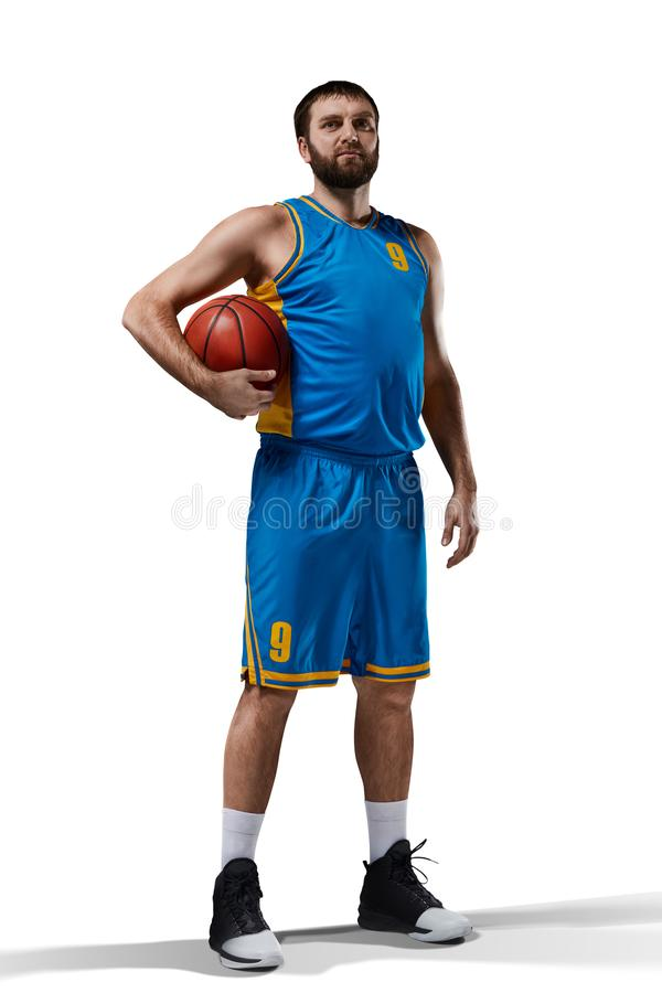 Basketball player on white royalty free stock images