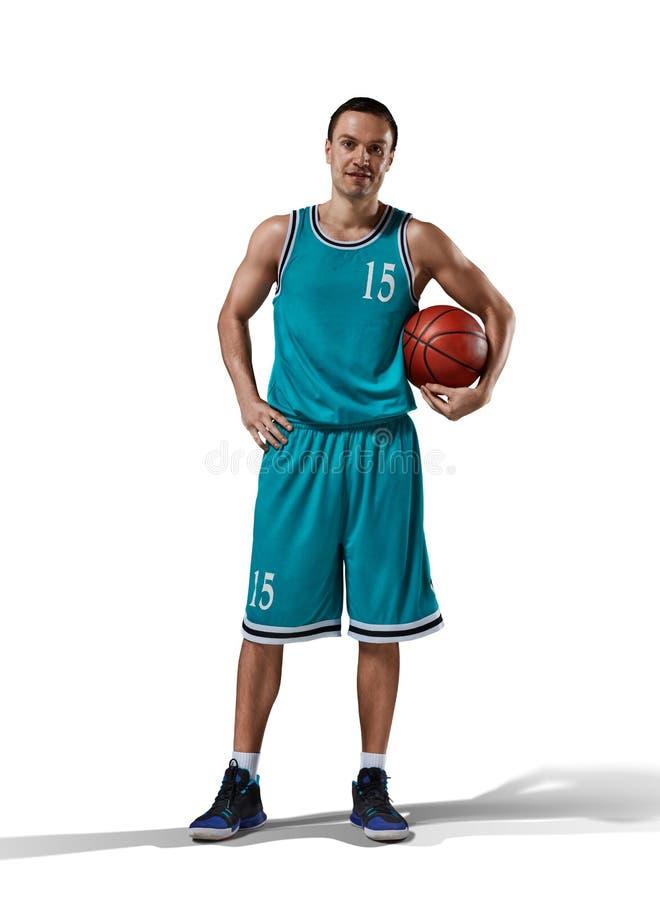 Basketball player on white royalty free stock photos