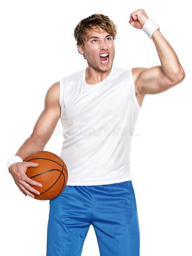 Basketball player isolated stock photo