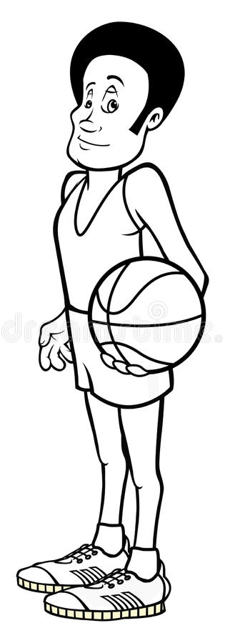 Download Basketball Player Outline Stock Image - Image: 21297441