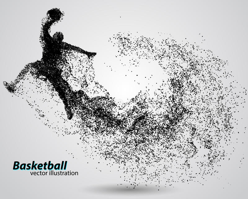Basketball player from particles. royalty free illustration