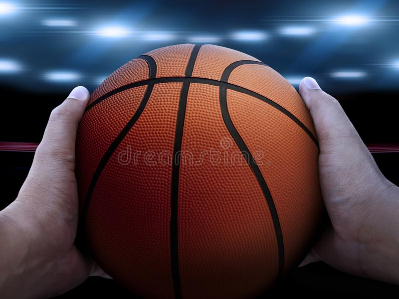 Basketball player with ball. For design In the media Advertising royalty free stock images