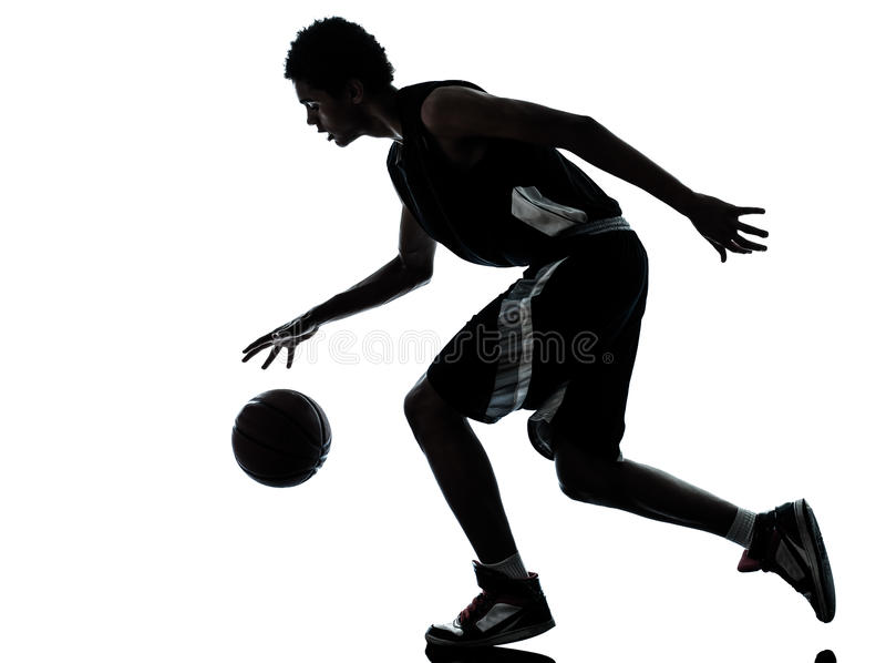 Basketball player silhouette stock photos