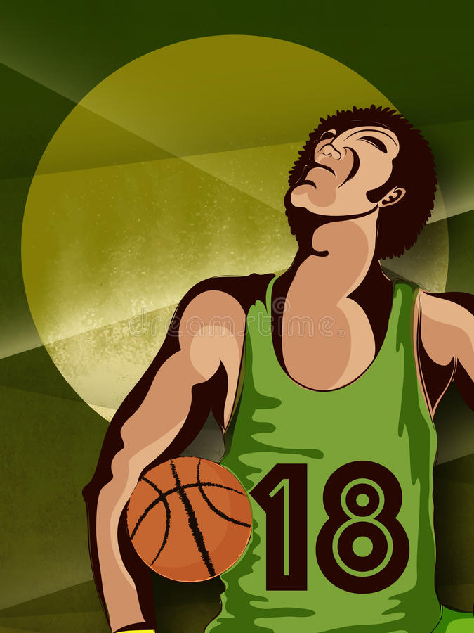 Basketball Player for Sports concept. Creative illustration of Basketball player on abstract background for Sports concept royalty free illustration
