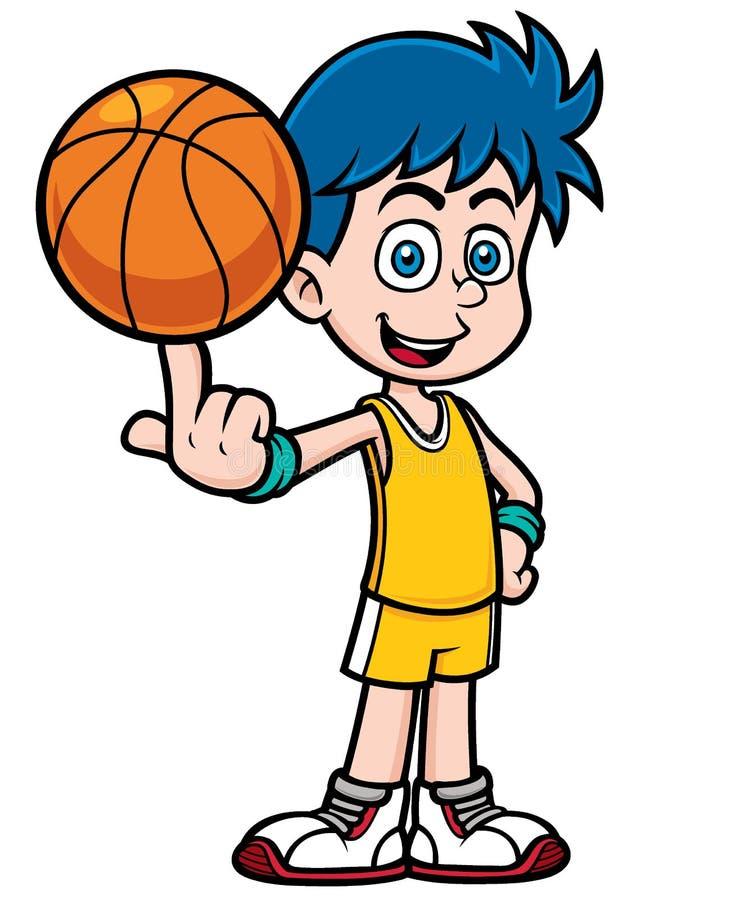 Basketball player. Vector illustration of cartoon basketball player stock illustration