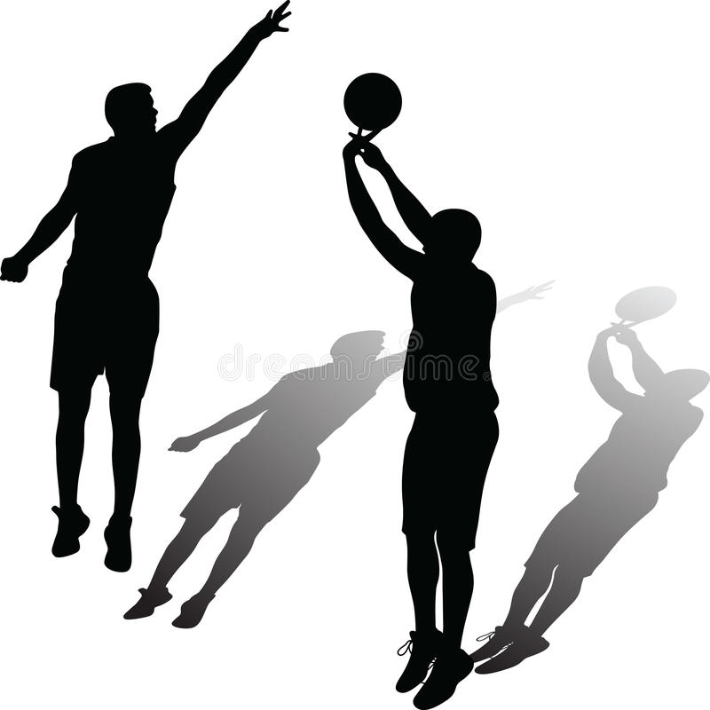 basketball player vector stock vector illustration of ball 95549077 rh dreamstime com basketball silhouette vector free download playing basketball silhouette vector