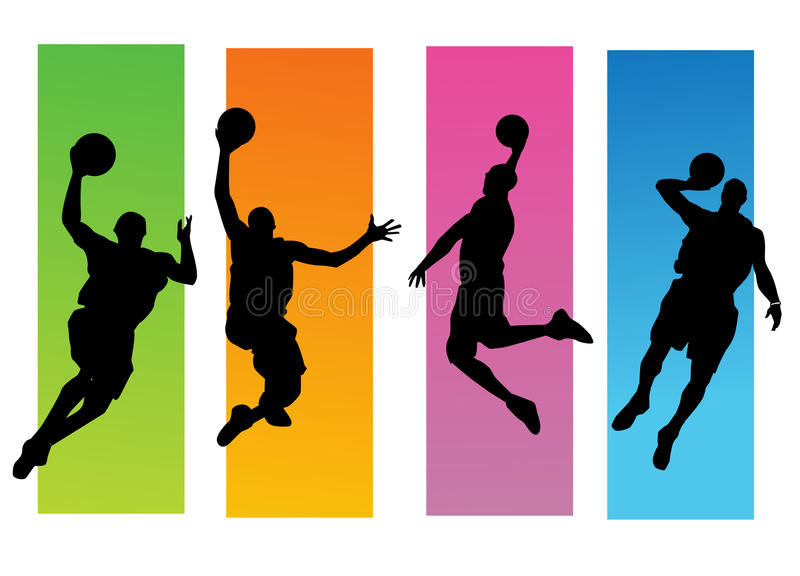 Download Basketball players stock vector. Illustration of contest - 13341848
