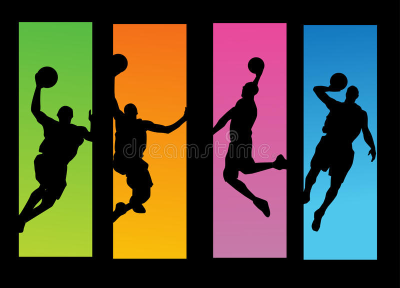 Download Basketball players stock vector. Illustration of action - 16245188