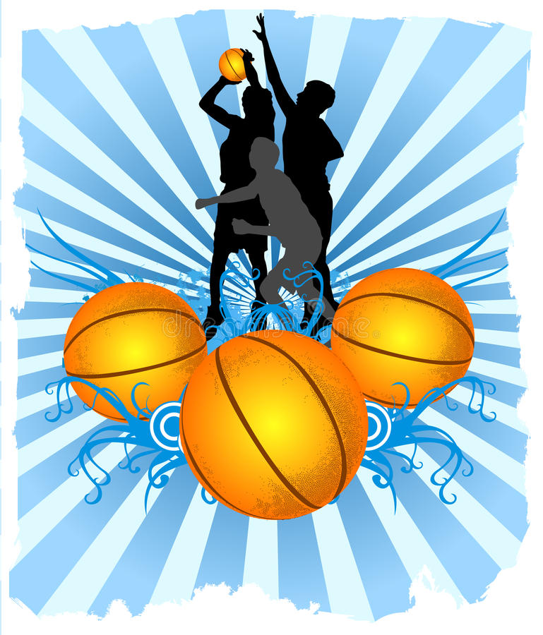 Download Basketball Players stock vector. Image of professional - 17883419