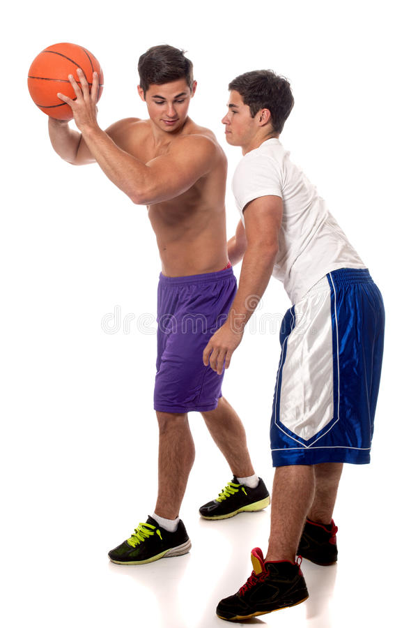Download Basketball Players stock photo. Image of white, studio - 26921226