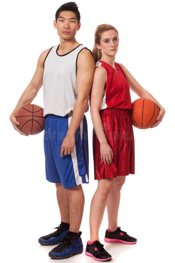 Basketball Players Royalty Free Stock Image