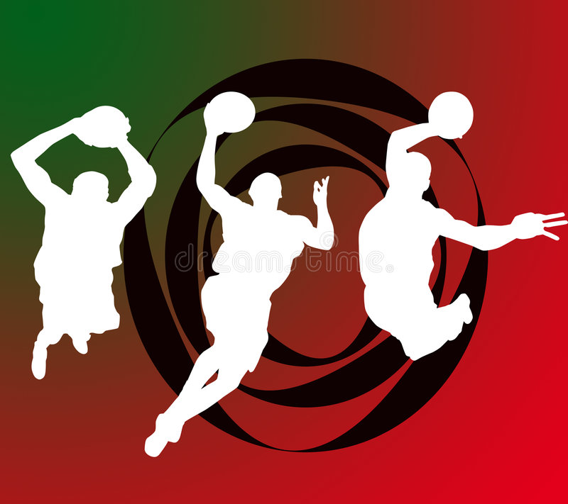 Download Basketball players stock illustration. Image of activity - 3303338