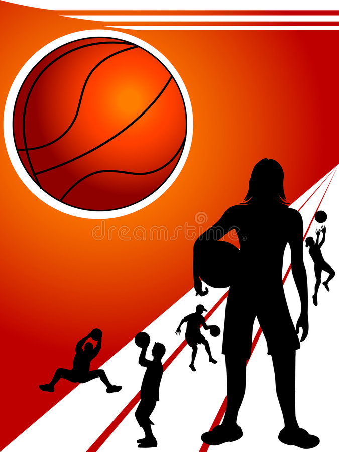 Basketball players royalty free illustration