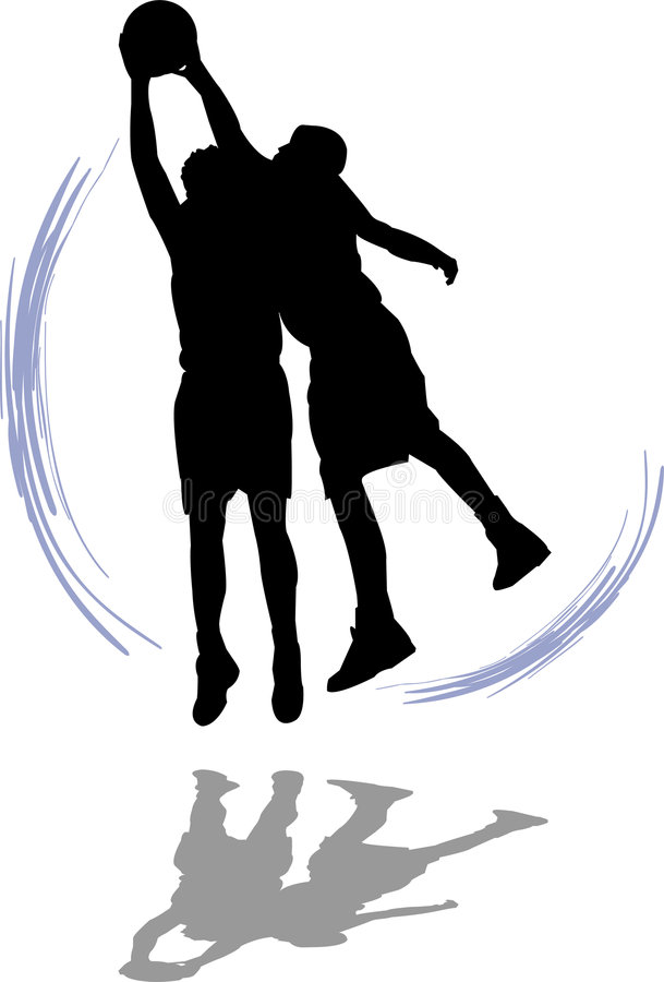 Basketball Players. Illustration of two men playing basketball