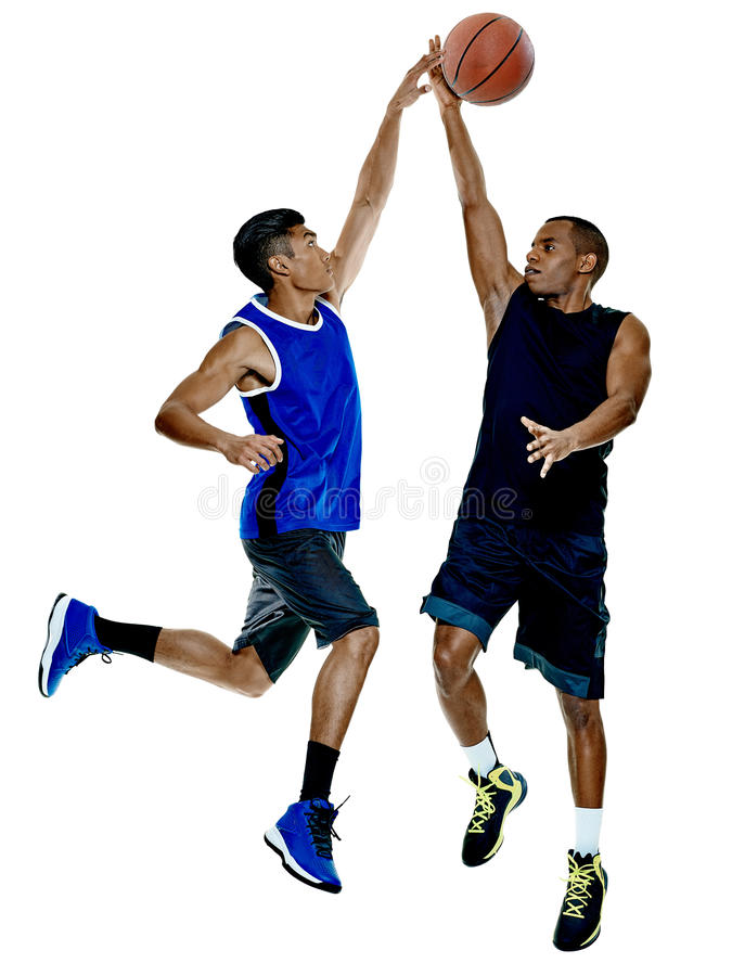 Basketball players men Isolated royalty free stock photography