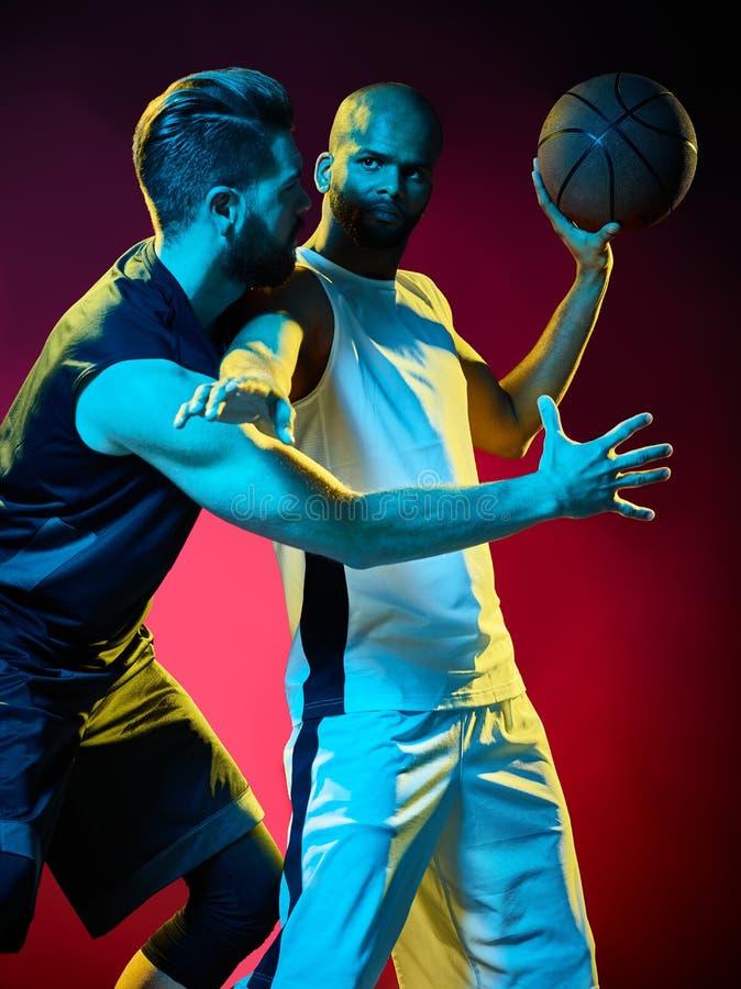 Basketball players men royalty free stock image
