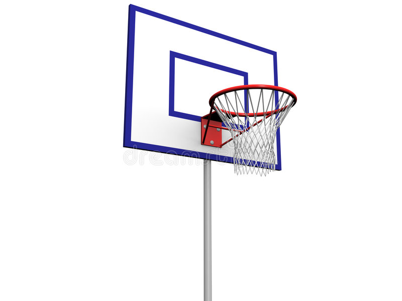 Download Basketball Pole stock illustration. Image of isolated, iron - 951823