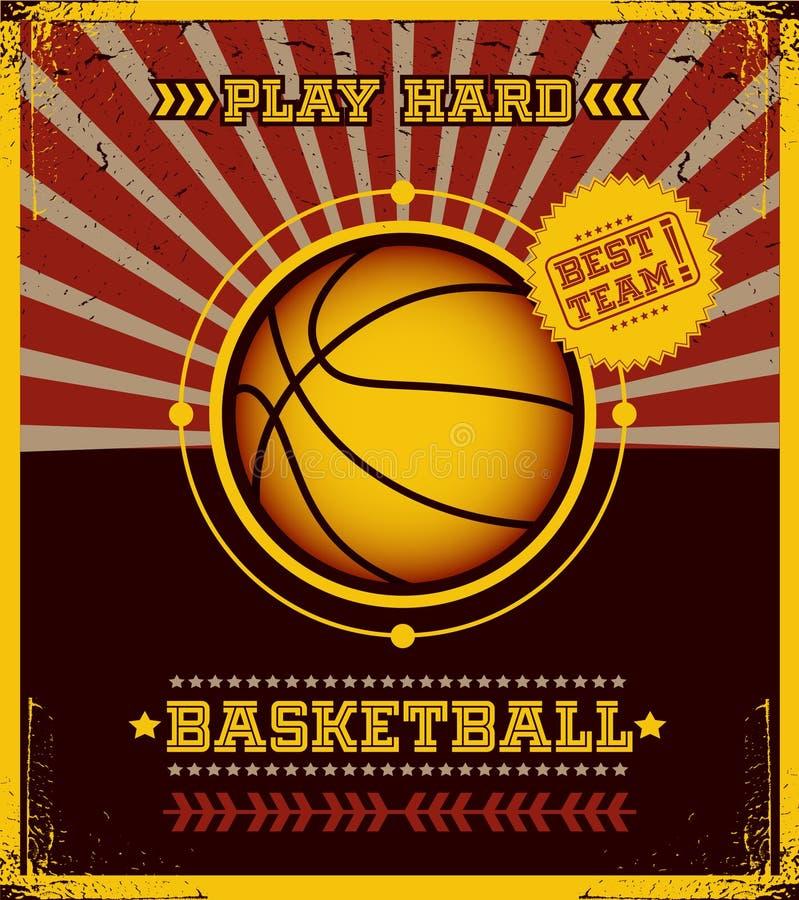 Basketball poster. stock illustration