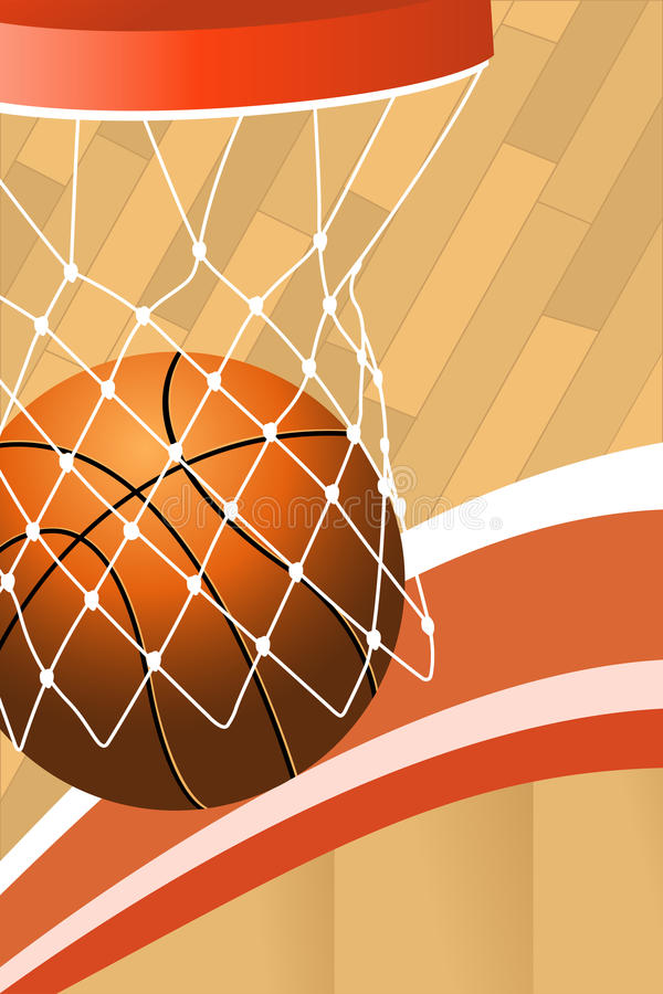 Basketball poster stock illustration