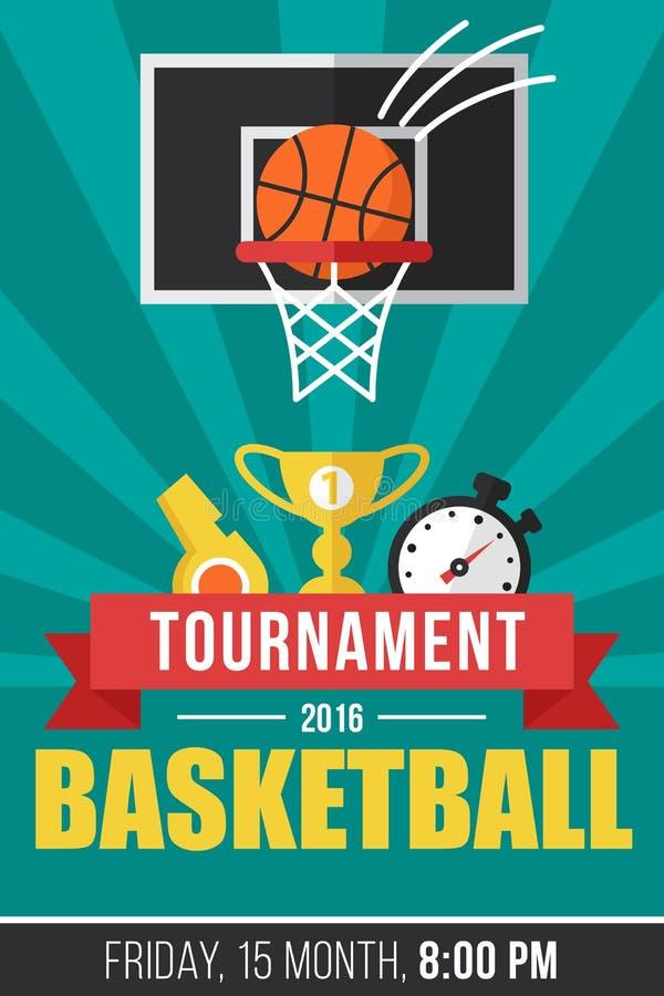 Basketball poster vector illustration