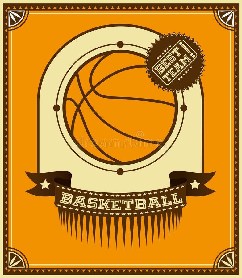 Basketball retro poster. royalty free illustration