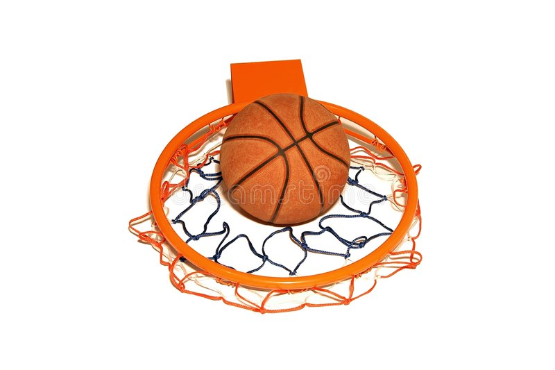 Basketball and rim royalty free stock images