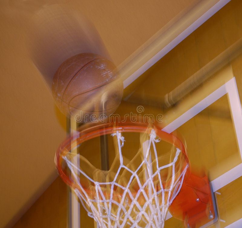 Basketball-Schuß stockbilder