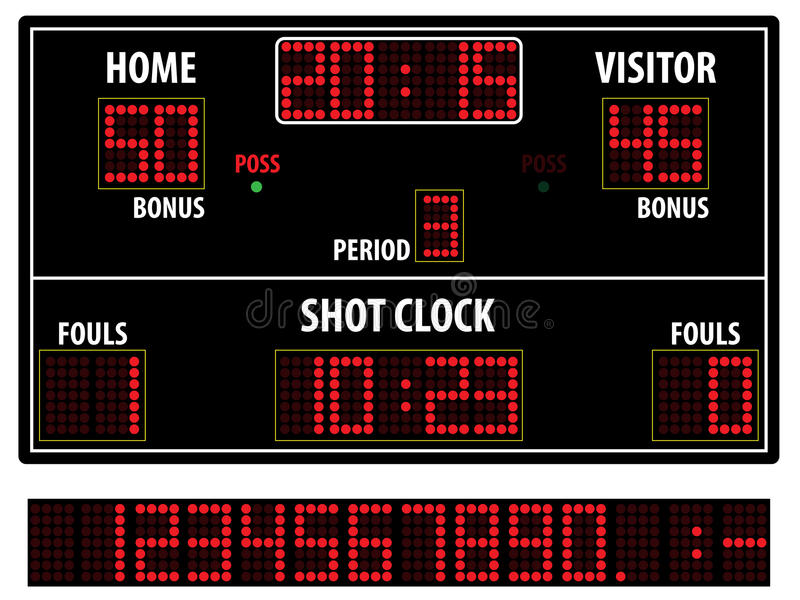 Basketball scoreboard vector illustration