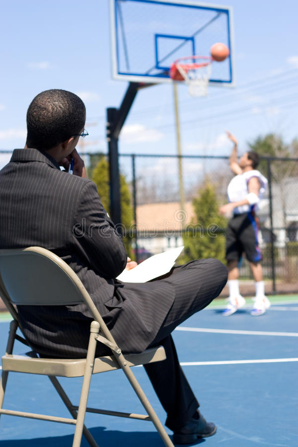 Download Basketball Scout stock image. Image of retired, chair - 12271061