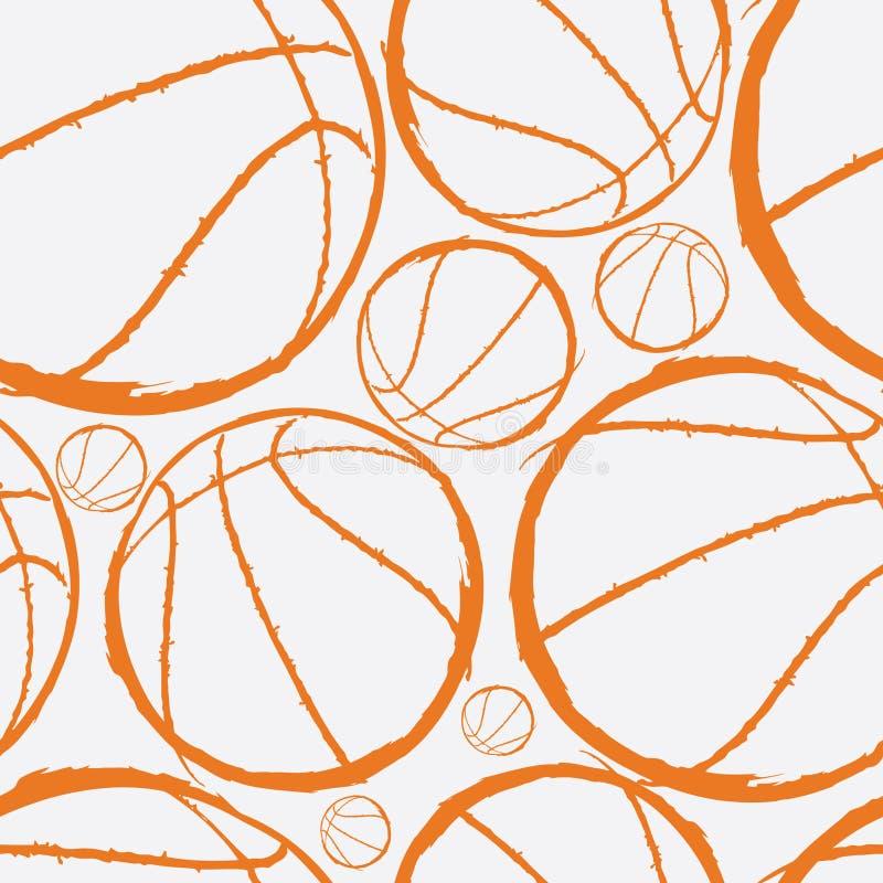 Basketball seamless pattern vector illustration