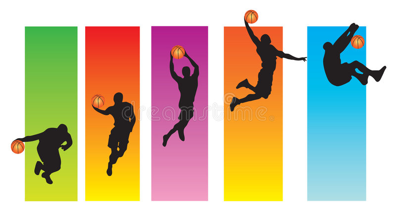 Basketball Sequence royalty free illustration