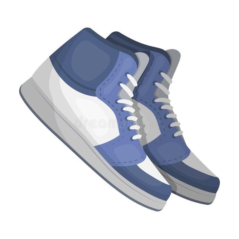 Basketball shoes.Basketball single icon in cartoon style rater,bitmap symbol stock illustration web. stock illustration