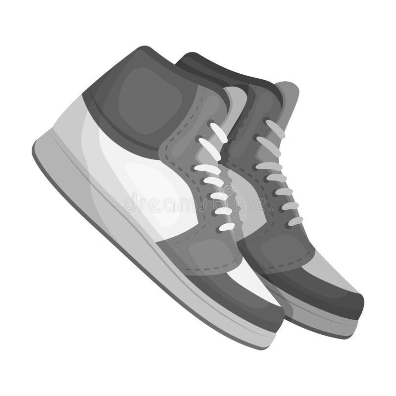 Basketball shoes.Basketball single icon in monochrome style vector symbol stock illustration web. vector illustration