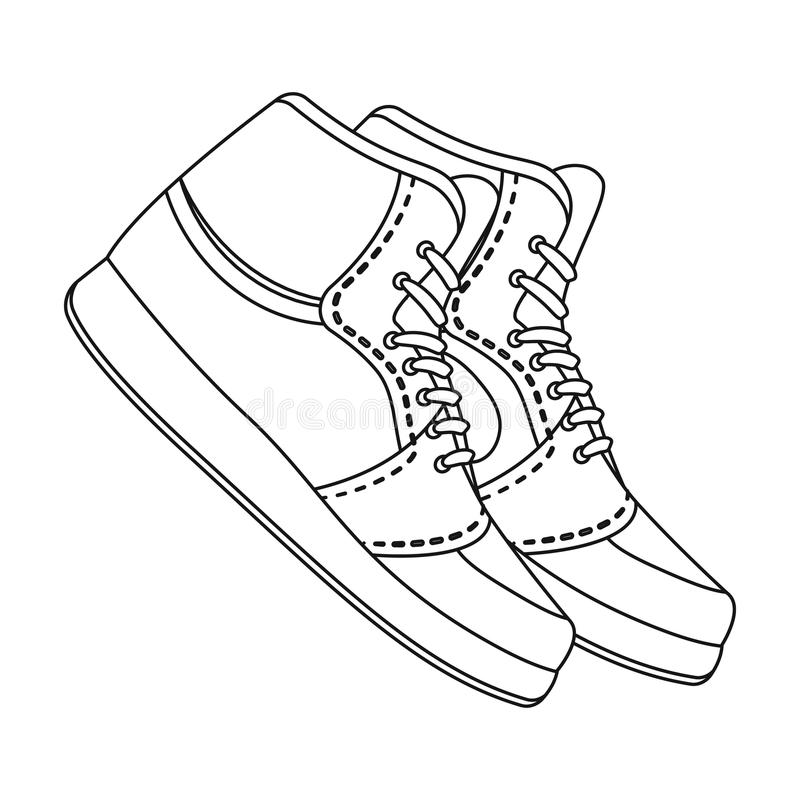 Basketball shoes.Basketball single icon in outline style vector symbol stock illustration web. Basketball shoes.Basketball single icon in outline style vector vector illustration