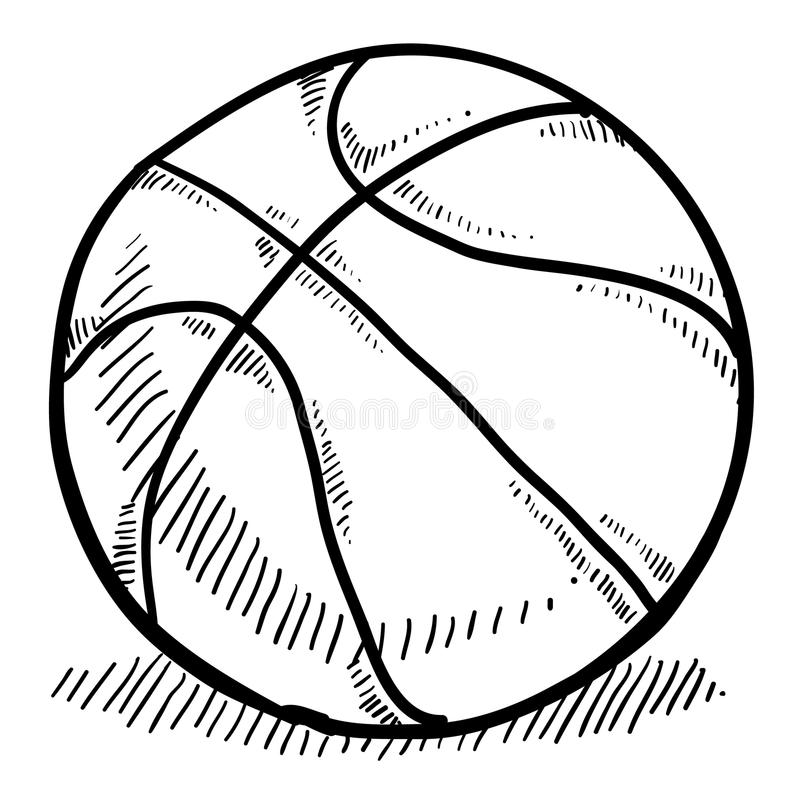 Download Basketball sketch stock vector. Image of shoot, playing - 22354342